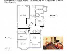 Floor Plan Apt A  (Apt B unfinished)